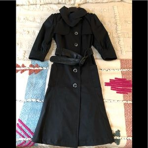 Mackage Black Trench Coat Sz XS